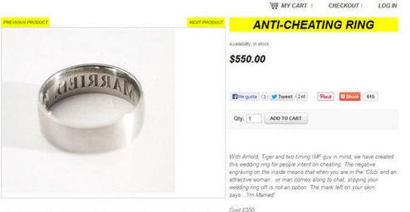 Sale a la venta un curioso anillo de bodas para evitar infidelidades