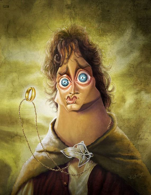 Caricaturas de famosos - The Lord of the rings - Elijah Wood